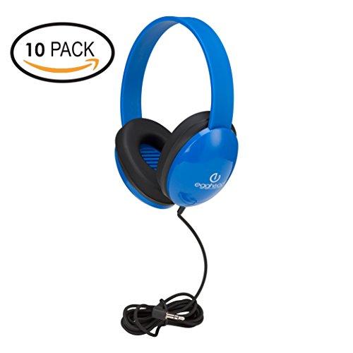 Heavy-Duty Kids' Headphone w/Tangle-Free Fabric Cord (Pack of 10)