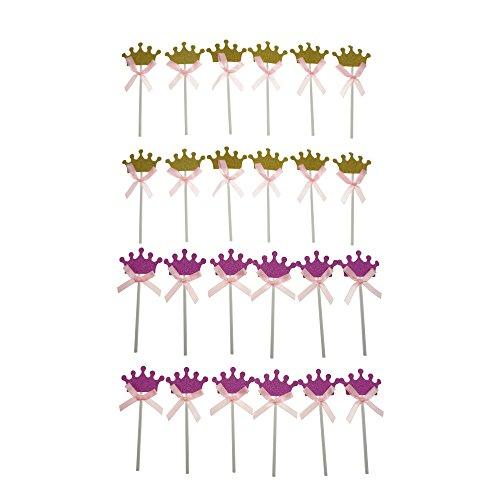Shxstore Princess Cupcake Toppers Counts