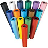 """Colorations Dual Surface Paper Roll, Yellow, 36"""" x 1000' (Item # DSYE)"""