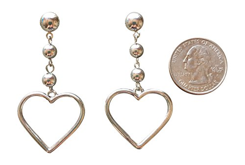 Trendy Big Statement Silver Heart Novelty (Mid Century Costumes)