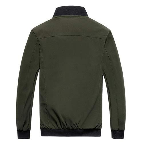 Aimee7 Léger Verte Outwear Casual Baseball Taille Manteau Veste Armée Grande Homme Blouson De 1rAq18T