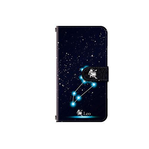 好きである険しい電気のZenFone Live L1 (ZA550KL) 対応 手帳型 カメラ穴搭載 ダイアリー スマホカバー レザー製 【星座?獅子座/デザインE】