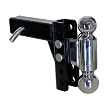 """Uriah Products UT623510 Adjustable Steel Dual Ball Mount with 5"""" Drop"""