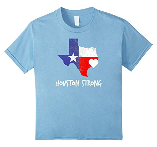 Price comparison product image Kids Houston Strong Shirt: Houston Texas T-Shirt 6 Baby Blue