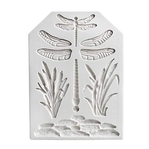 3D Dragonfly Square Silicone Molds Cake Molds Decoration Baking Tool random