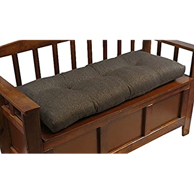 The Gripper Non-Slip Tufted Omega Universal Bench Cushion, 36 , Chestnut