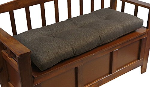 Klear Vu The Gripper Non-Slip Tufted Omega Universal Bench Cushion, Chestnut, 36""