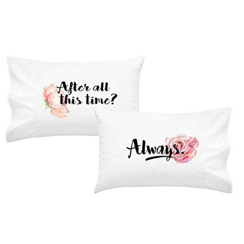 "OH, SUSANNAH After All This Time? Always. Pillowcase Set – Ideal Couples Pillowcase Set – 2 20x30"" Pillowcases"