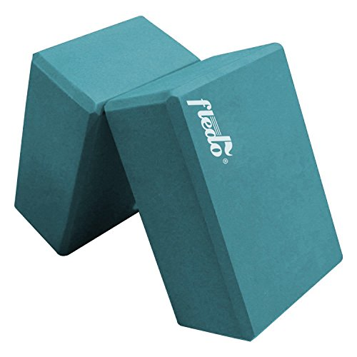Review Fledo Yoga Blocks (Set of 2) 9″x6″x4″ – Eco-friendly EVA Foam Brick, Featherweight and Comfy – Provides Stability and Balance – Ideal for Exercise, Pilates, Workout, Fitness & Gym (Turquoise)