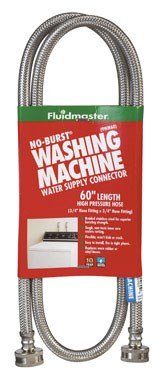 48-Inch Washing Machine Supply Connector, Stainless -