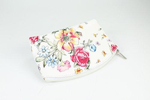 """""""Bellini"""" BELLI westhome pelle TROUSSE compone la Cassa - libera scelta dei colori - 18 x 13 x 5 cm (B x T) Weiß Blume"""
