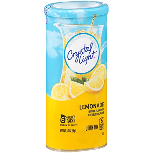 Light Crystal Lemonade - Crystal Light Drink Mix, Lemonade, Pitcher Packets, 6 Count