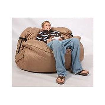 Fufsack Sofa Sleeper Tan Microsuede Lounge Chair: Amazon.co
