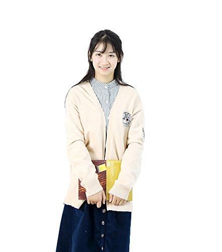 Suimiki レディース ロングカーディガン Vネック ノーボタン 厚手 セーターコート フリーサイズ