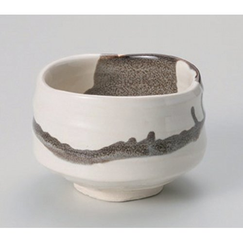 Matcha bowl thin Paper marbling tea bowl ( tree ) [11.8 x 8cm] Tsuchimono strengthening Japanese instrument Liquor restaurant for hotel business by Crockery Honpo