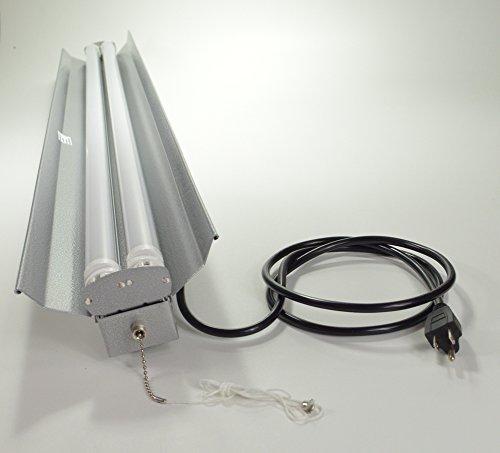Grey 48 Watt Hanging 4 Foot 2-light Shop Light With Pull