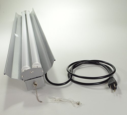 4 X Utilitech Four T8 Fluorescent Bulb: Grey 4-foot 4' 2-light Shoplight With 2x LED T8 20 Watt