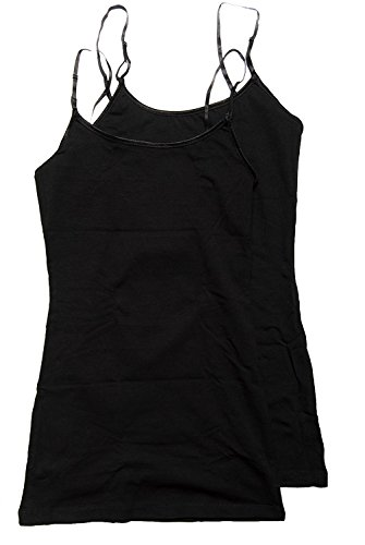 Active Basic Women's Basic Casual Plain Camisole Cami Top Tank Junior and Plus Sizes