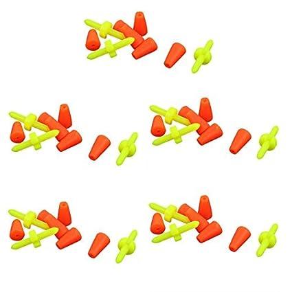 eDealMax plástico Barra de goma zócalo de Pesca de peces flotante Bobber tapón 15 Set