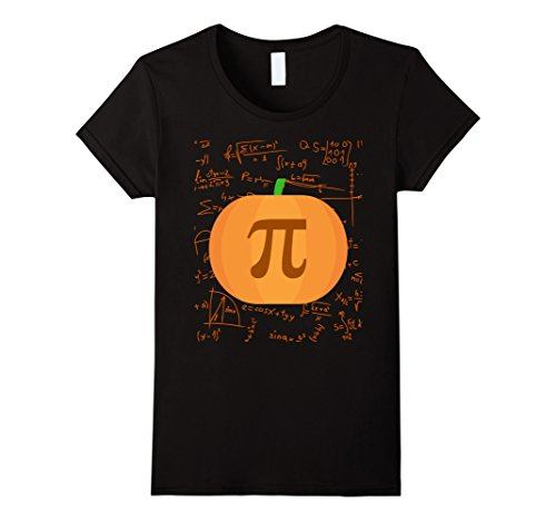 Fun Brother And Sister Halloween Costumes (Womens Pumpkin pi - Halloween costumes for math teacher XL Black)