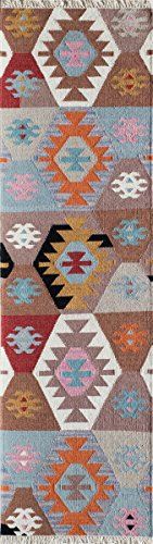 -2MTI2380 Caravan Collection, 100% Wool Hand Woven Transitional Area Rug, 2'3