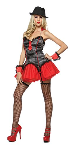 Lip Service New Womens Sexy Mafia Mob Gangster Halloween Costume S