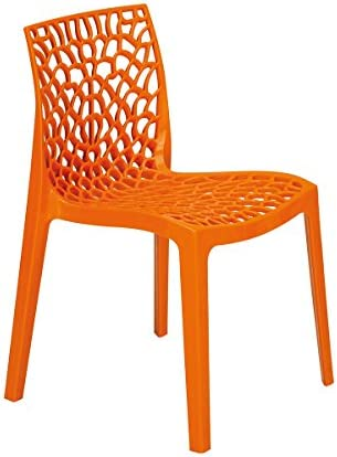DECLIKDECO Chaise design orange Gruyer: : Cuisine
