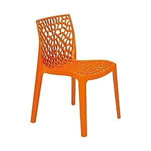 DECLIKDECO – Chaise design orange Gruyer