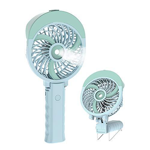 HandFan Handheld Misting Fan USB/Battery Operated Mist Fan Rechargeable Portable Cooling Fan Personal Spray Fan Mister with 55ml Water Tank/Humidifier/3 Speeds