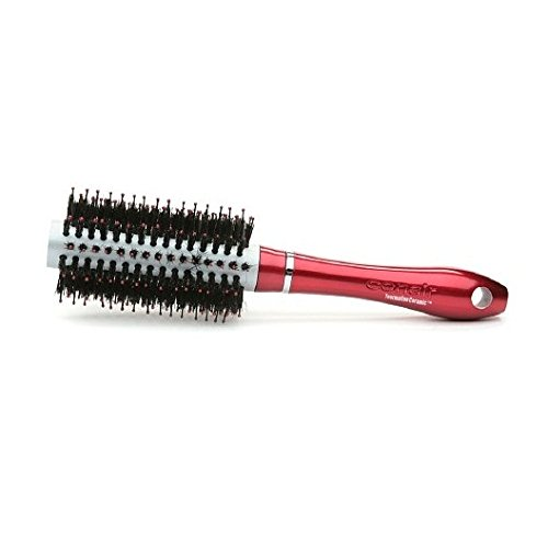 Conair Tourmaline Nylon Round Brush, Red, Medium
