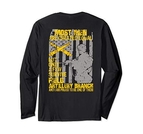 Veteran Gift I Survived Field Artillery Branch Long Sleeve T-Shirt ()
