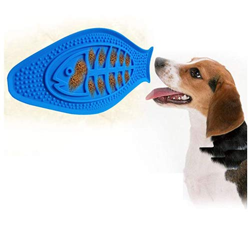 (Etenli Dog Lick Pad Dog Shower & Bath Accessories, Slow Treater Treat Dispensing Mat Suctions to Wall Dog Toys Distraction Device Silicone Peanut Butter for Pet Grooming, Make Shower Easy and Funny )