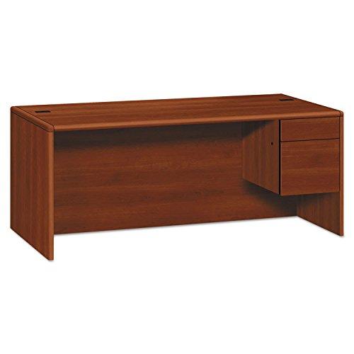 HON 10785RNN 10700 Series Single 3/4 Right Pedestal Desk 72w x 36d x 29 1/2h Mahogany (Right Pedestal Desk)