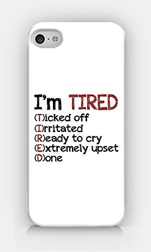 Amazon.com: for iPhone 4/4S - I\'M Tired - Sassy Quotes ...