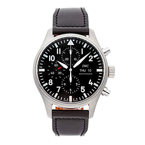 - IWC Pilot Mechanical (Automatic) Black Dial Mens Watch IW3777-09 (Certified Pre-Owned)