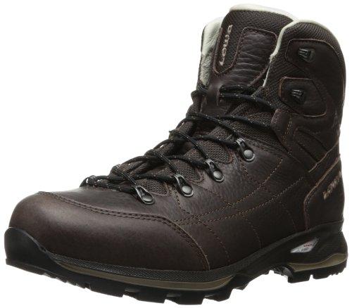 Lowa Men's Hudson Leather Lined Mid Hiking Shoe,Dark Brown,11 M US