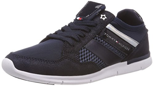 Sneaker Women''s Blue Metallic Light Low top midnight Weight Tommy Hilfiger 403 xP5qw48X