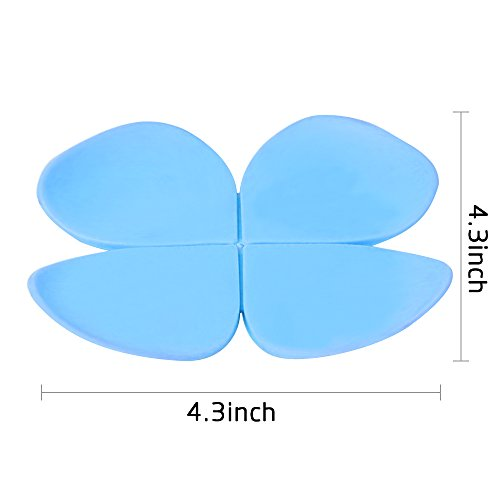Ieasycan 10pcs/lot Fashion Colorful 3D Flower Clover Pad Coffee Coaster Flower Cup Mat Kitchen Table Decor
