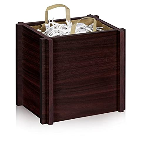 Way Basics Paper Grocery Bag Holder - Keeps Your Paper Bags Upright, Espresso Wood Grain (made from sustainable non-toxic zBoard - Paper Recycling Bin