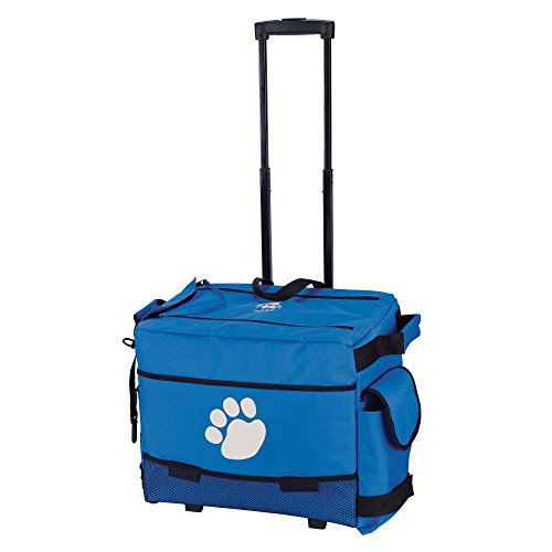 Top Performance Groomer's Totes - Versatile Rolling Nylon Bags Designed for the Storage of Grooming Tools and Supplies for the Professional Pet Groomer, Blue