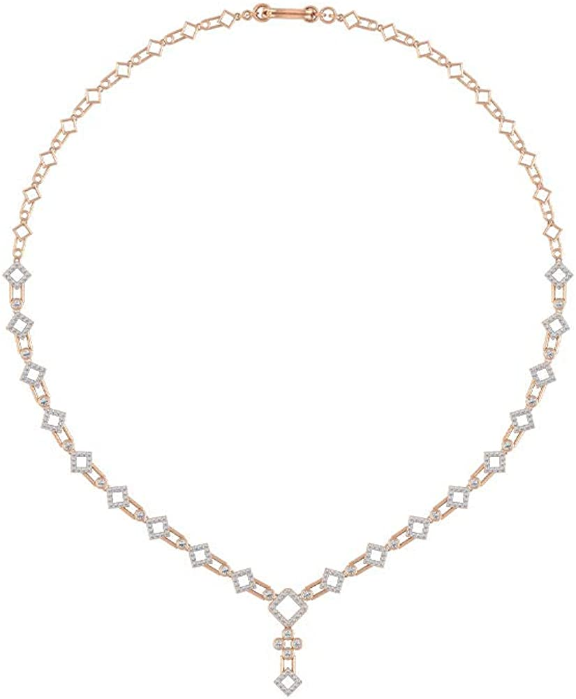 Collar de boda único, certificado de moissanita de 2,26 quilates, collar de estilo antiguo, collar de fiesta para mujer, collar de aniversario