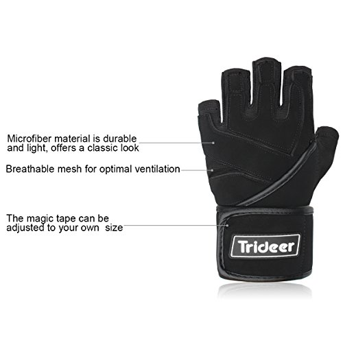 Trideer-Padded-Anti-Slip-Weight-Lifting-Gloves-with-18-Wrist-Wraps-Pro-Gym-Gloves-Support-for-Weightlifting-Cross-Training-Gym-Workout-Fitness-Bodybuilding-Best-for-Men-Women-PAIR
