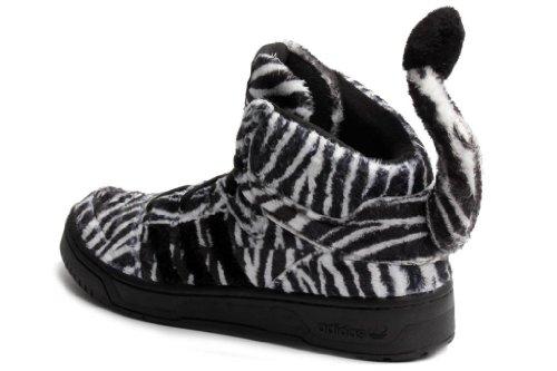 Jeremy Scott Zebra Men Shoes Sneakers Black/Running White G95749