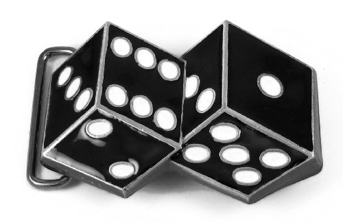 Two Dice Belt Buckle - Black - Dice Belt Buckle