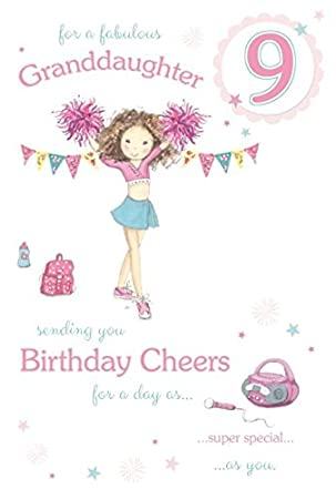 Fabulous granddaughter age 9 large luxury 9th birthday card fabulous granddaughter age 9 large luxury 9th birthday card bookmarktalkfo Images