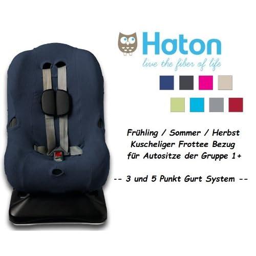 new HATON – Housse universelle eponge -- Printemps / Été / Automne -- pour coque bébé, siège auto, par ex. Maxi-Cosi Priori / SPS / XP, Römer King Plus / TS / Duo -- MARINE--