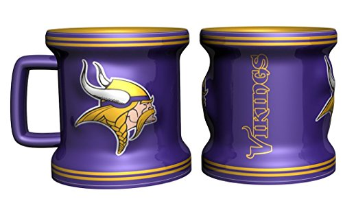 Boelter NFL Minnesota Vikings 2Oz Sculpted Mini Mug, Purple, 2 oz (Shot Nfl Glass 2 Oz)