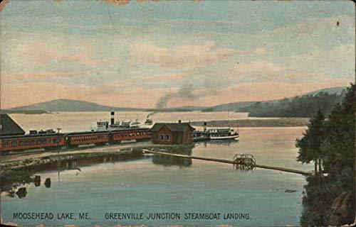 Greenville Junction Steamboat Landing, Moosehead Lake Greenville, Maine ME Original Vintage Postcard