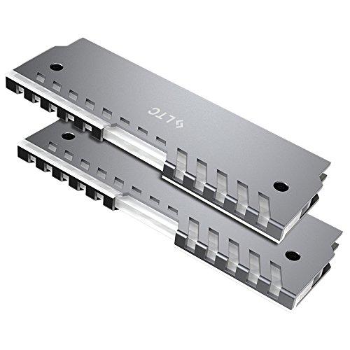 LTC Memory RAM Cooler Heat Sink, Rainbow Lighting Effect, Cooling Vest Heatsink Fin Radiattor For DIY Desktop PC Game Overclocking MOD DDR DDR3 DDR4