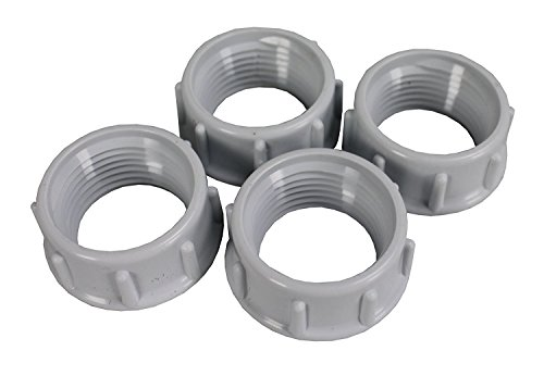 Hayward AX5004B Hose Spare Mender Nut Replacement for Hayward 5500 Viper Automatic Pool Cleaner, Set of 4
